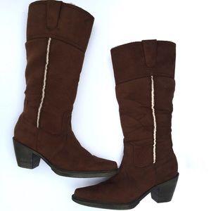 Steve Madden| NWOT Brown Suede Warm Boots